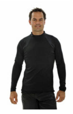 Mens Long Sleeve Rash Shirt - Black