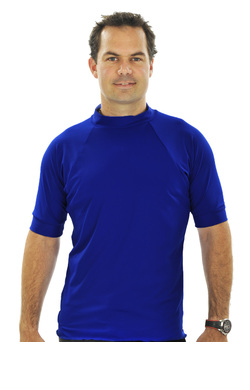 Mens Short Sleeve Rash Shirt - Navy