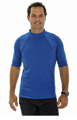 Mens Short Sleeve Rash Shirt - Ocean