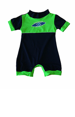 Baby Sunsuit Chlorine Resist Navy Lime