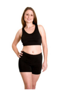 Crop Top Black Chlorine Resist
