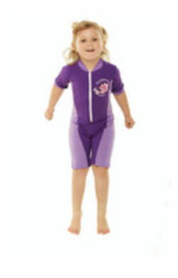 Girls Bodysuit Zip Front - Violet and Lilac