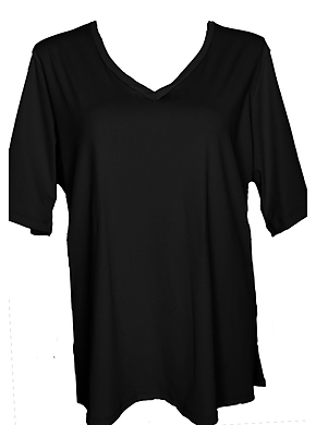 more on V Neck Rash Shirt - Black Chlorine Resist