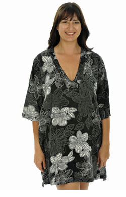 Printed Kaftan - Black and White