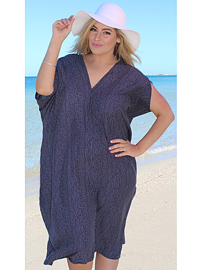 Kaftan Black and White Plus size