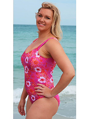 Panelled One Piece - Blossom Chlorine Resist