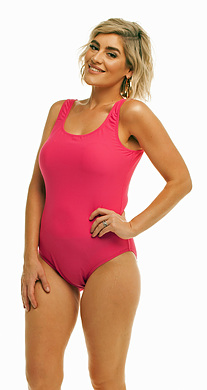 One Piece Pink Textured Lycra