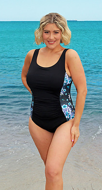 One Piece with front Ruching Karijini Chlorine Resist