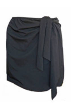 Wrap Swim Skirt - Black Chlorine Resistant