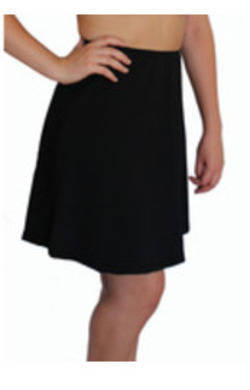 more on Long Swim Skirt - Black Chlorine Resistant