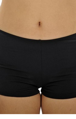 Chlorine Resist Boyleg pants - Black Plus Size