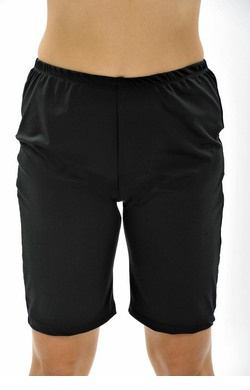 Long Swim Shorts - Black Chlorine Resist Plus Size