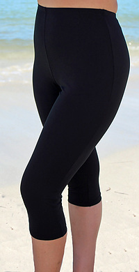 Three Quarter Leggings - Chlorine Resistant Plus Size