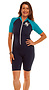 Photo of Short Sleeve Zip Front Bodysuit Suit 50+ Sun Protection Chlorine Resist