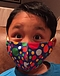 Photo of Child Cotton Face Mask - Shaped Spot Print