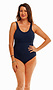 Photo of Panelled Bodice One Piece Navy Chlorine Resist