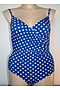 Crossover One Piece - Blue Polka Dot Lycra
