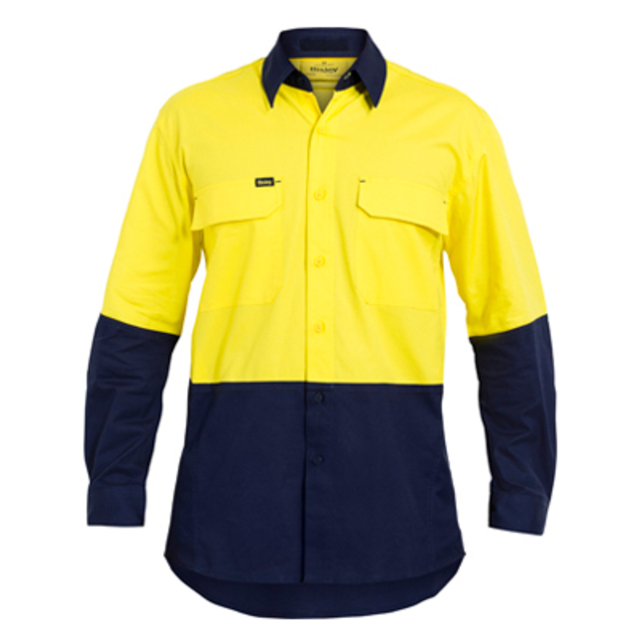 Hi-Vis Drill Shirt, Long Sleeve - Image 1