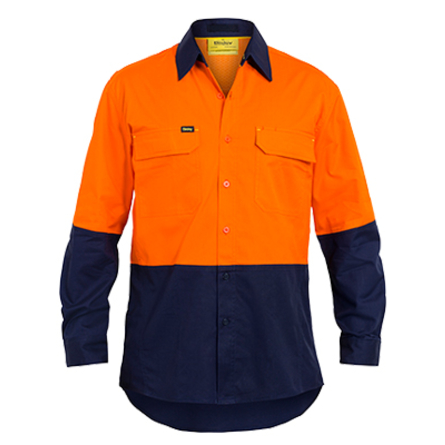 Hi-Vis Drill Shirt, Long Sleeve - Image 2