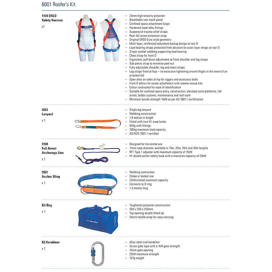 Roofers Kit Roofing Harness