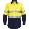 HI Vis Long Sleeve Drill Shirt Reflective with 3M reflective Tape