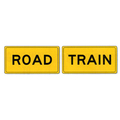 more on Road Train Split Sign