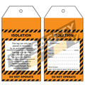 Isolation tags PKT 25 - 145 x 75mm