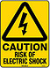 Caution Risk Of Electric Shock