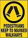 Pedestrians Keep To Marked Walkways