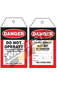 Danger Do Not Operate tags PKT 25 - 145x 75mm